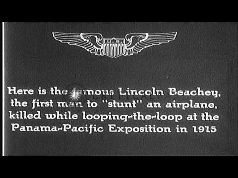 A stunt man performing stunts during Panama Pacific Exposition HD Stock Footage