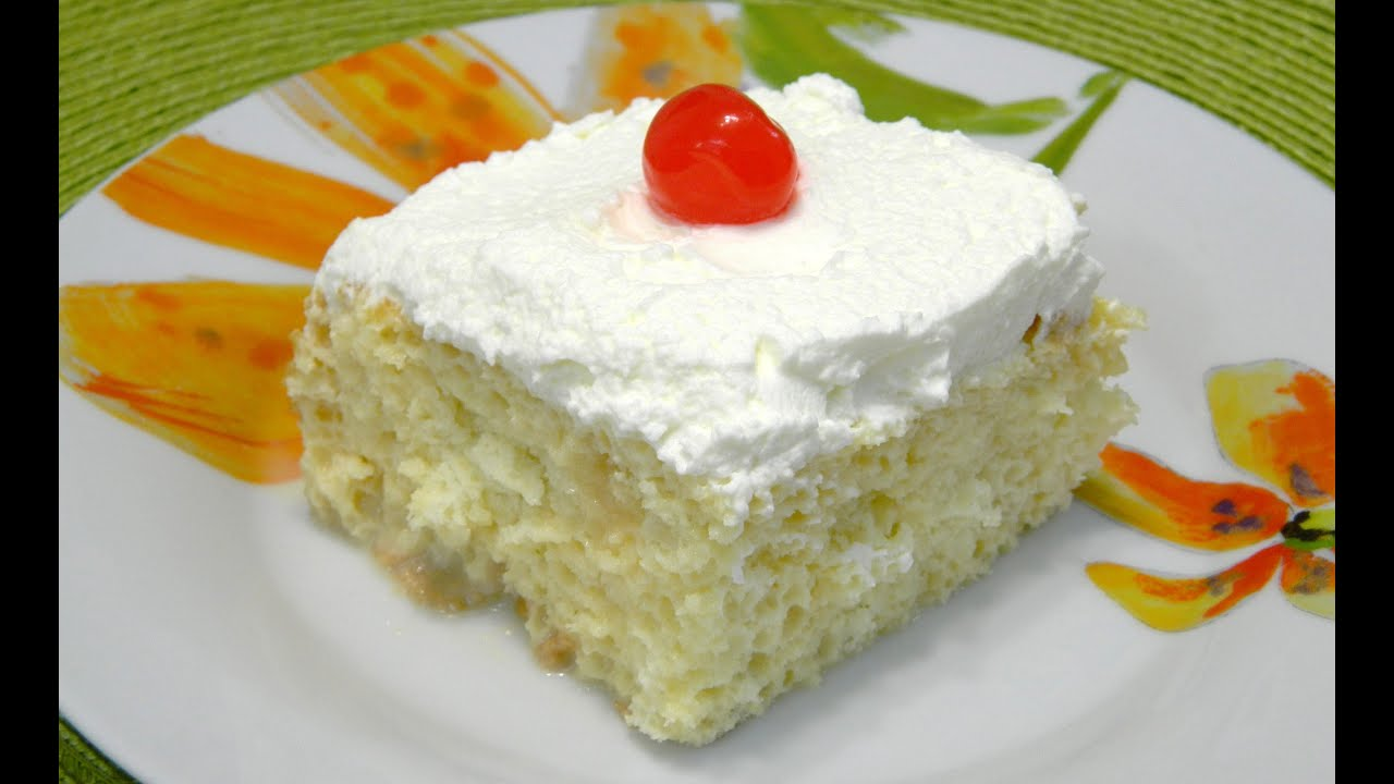 Traditional Tres leches Cake or Three Milk Cake - YouTube