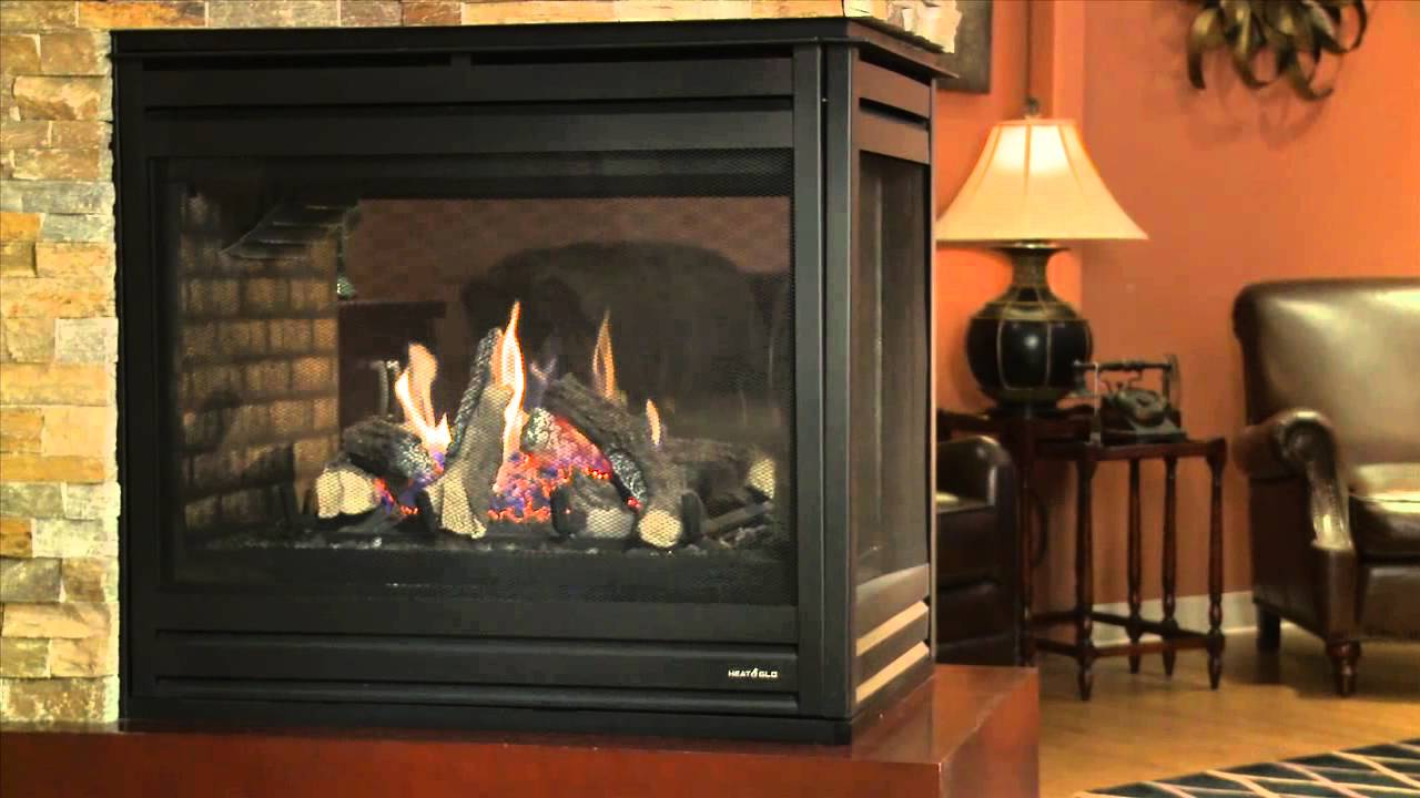 heat u0026 glo pier 36tr see through gas fireplace video youtube