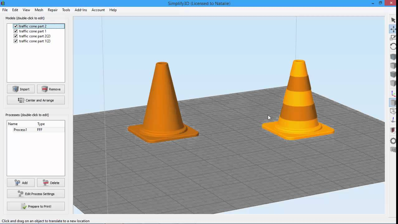 Selecting and Grouping Models | Simplify3D