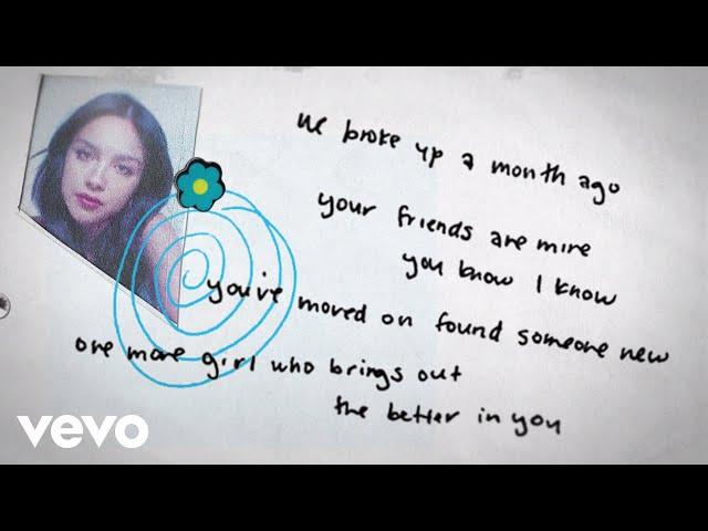 Olivia Rodrigo - happier (Lyric Video)