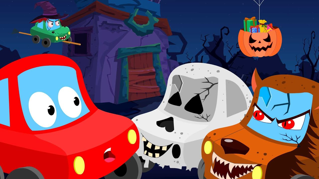 Little Red Car  trick or treat  Halloween videos for children ...