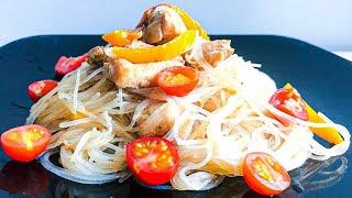Этот СУПЕР- УЖИН никогда не остаётся! Хоть каждый день готовь! Фунчоза с курицей и овощами.