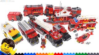 All of my LEGO custom fire vehicles & craft MOCs!