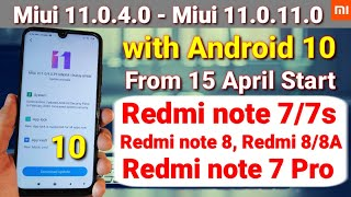 Miui 11.0.4.0 to 11.0.9.0 new stable update with android 10 update | Redmi note 7/7s, Redmi note 8