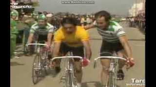 Joaquim Agostinho na Volta a Portugal em Bicicleta até à queda que o vitimou