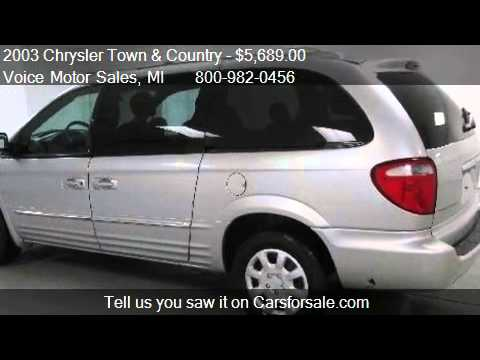 2003 Chrysler Town And Country Limited Awd 4 Door Van For