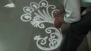 How to draw peacock rangoli Pongal Rangoli Design Beautiful Rangoli Designs Diwali Rangoli Designs