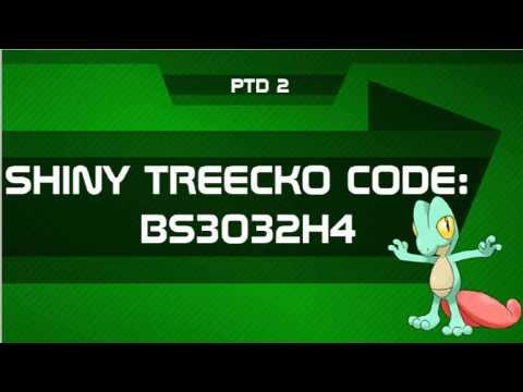 Shiny Treecko Mystery Gift Code