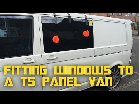 VW T5 Campervan Conversion - Fitting bonded windows