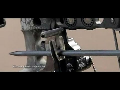 Compound bow in slow motion, 600 and 1200 frames/sec. Mathews Switchback
