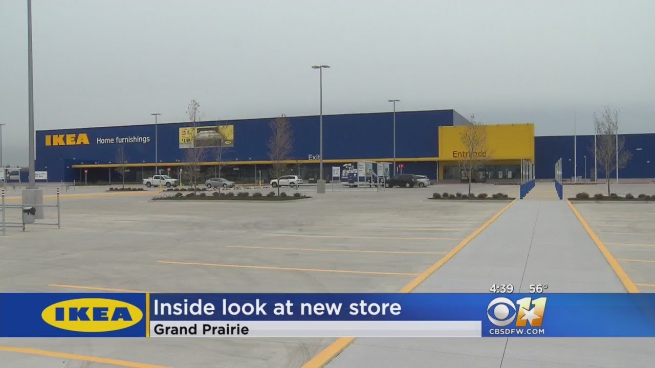 ikea opening new store in grand prairie youtube. Black Bedroom Furniture Sets. Home Design Ideas