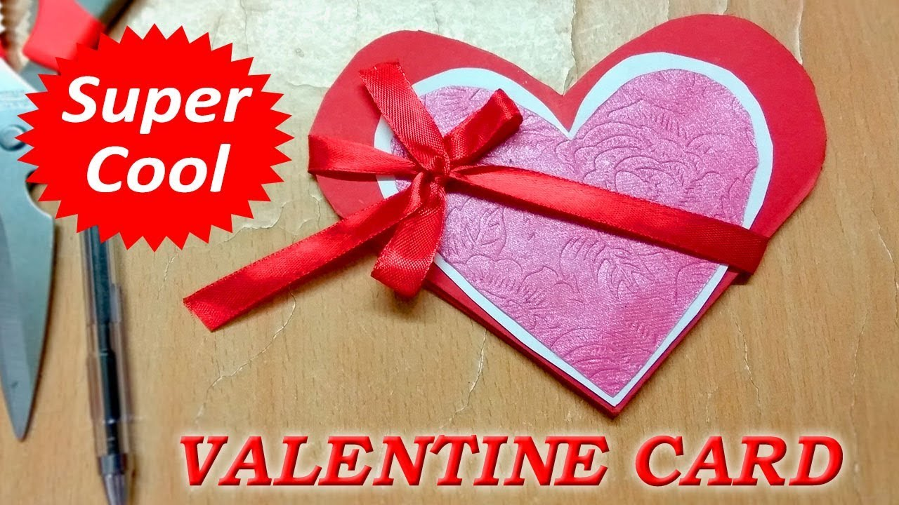 Card Making Ideas For Girlfriend Part - 45: Valentine Day Card Making Ideas | Valentine Day Card For Boyfriend And  Girlfriend (BF/GF)