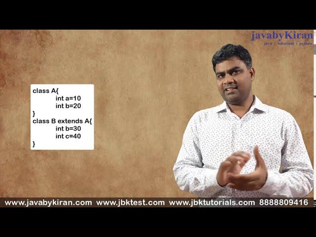 Inheritance Concept by Kiran Sir - Revision Video - Java by Kiran