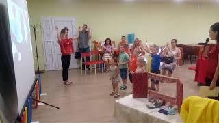 Алевтина на презентации студий изо, английского, театра для детей. Киров, 23.08.2017