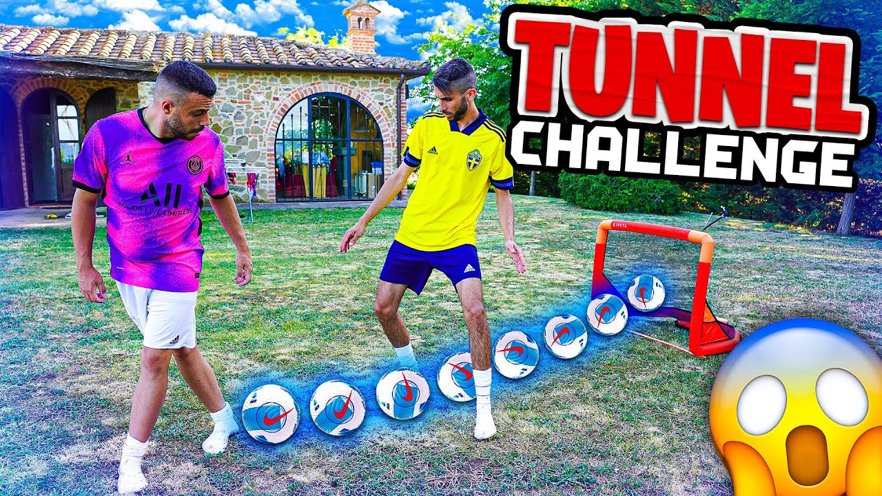 ⚽ TUNNEL FOOTBALL CHALLENGE in VILLA! w/Elites