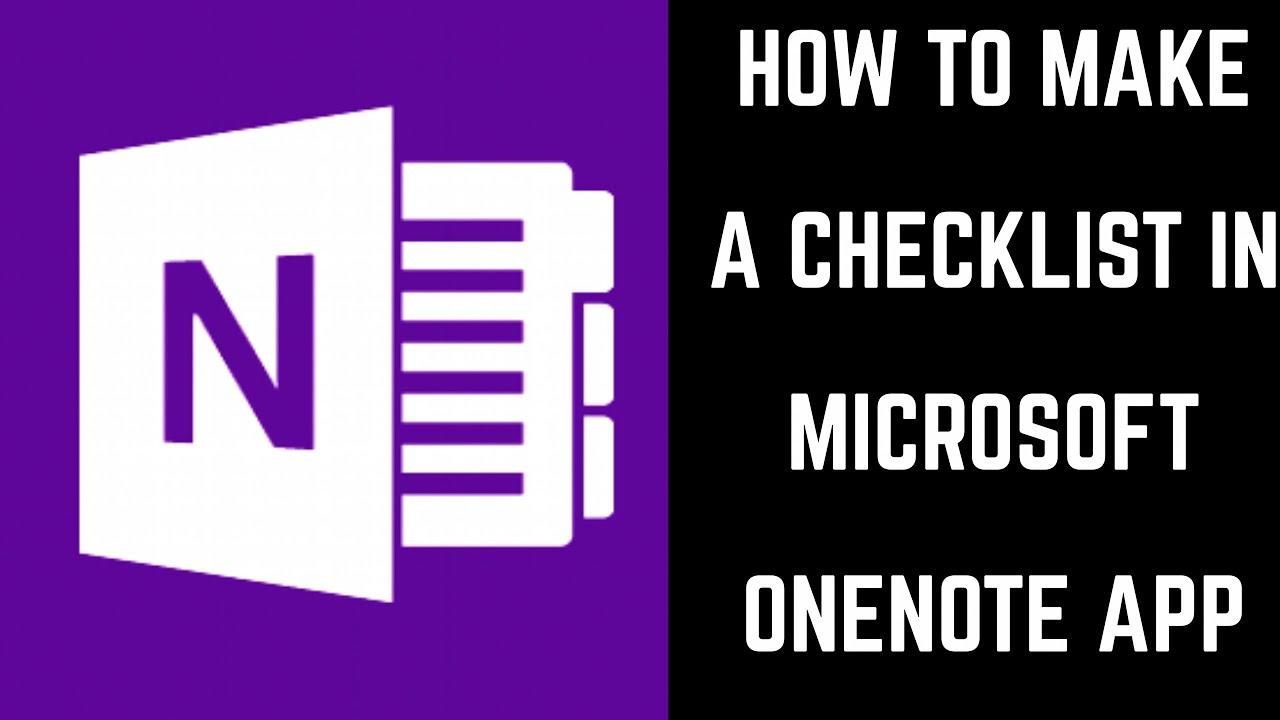 How to Make a Checklist in Microsoft OneNote App
