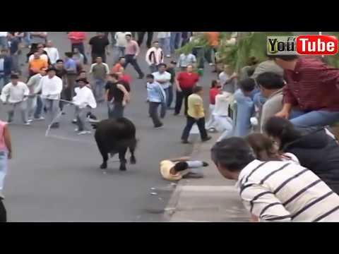 Best funny videos 2017 - Most awesome bullfighting festival - funny crazy bull fails || FunnyVideos