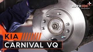 front and rear Brake Pads fitting KIA CARNIVAL / GRAND CARNIVAL III (VQ): free video