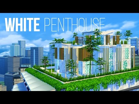 WHITE PENTHOUSE - Sims 4 | House Build