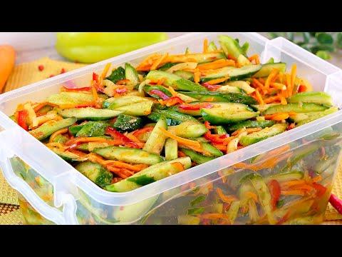 Вопрос: Как приготовить салат из огурцов?