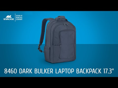 0564cc7bdf25 RIVACASE 8460 Black 17'' Laptop Backpack - YouTube