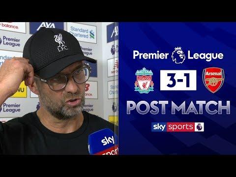 "Klopp hails ""outstanding"" performance   Jurgen Klopp Post Match   Liverpool 3-1 Arsenal"