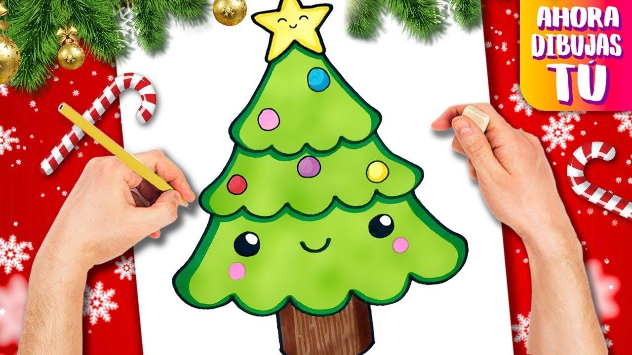 Como Dibujar Un Arbol De Navidad Dibujos De Navidad Dibujos Kawaii Youtube
