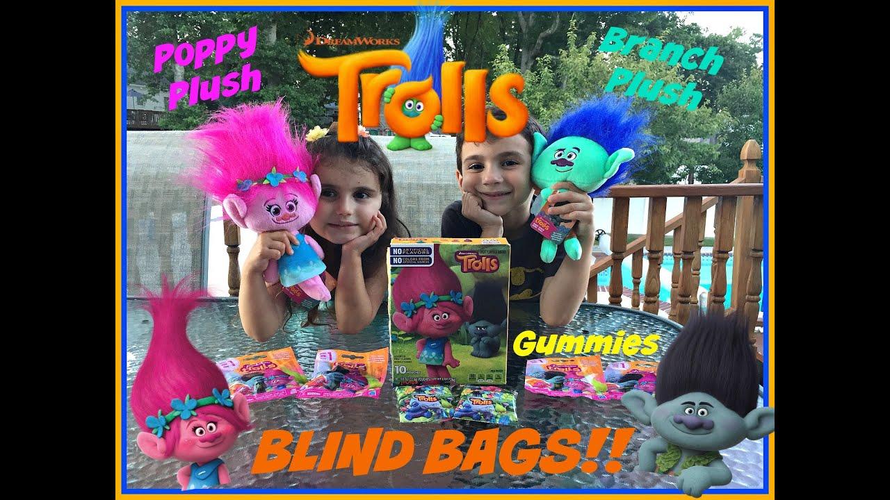 Dreamworks TROLLS Movie BLIND BAGS Series 1 POPPY BRANCH Plush Dolls Trolls Character GUMMIES
