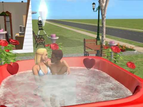 The Sims 2 Woo Hoo in The Hot Tub at The Outdoor Space in The Morning