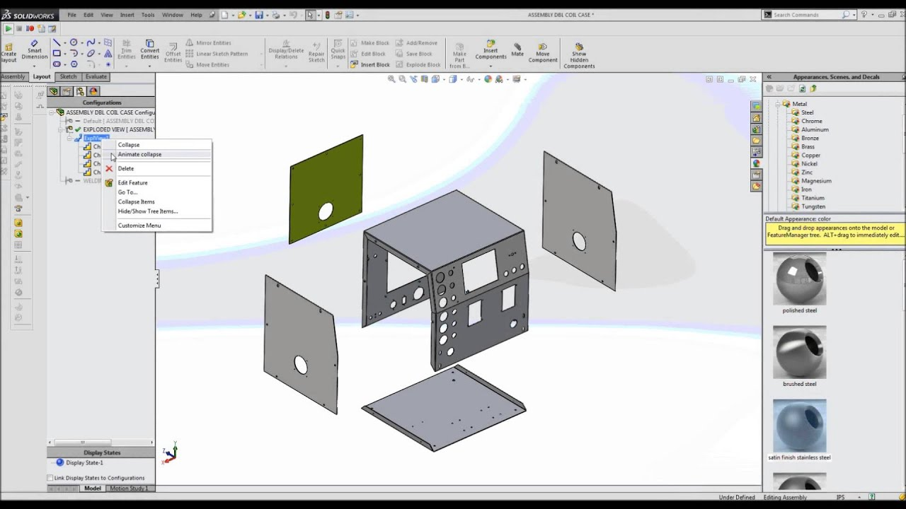 sc 1 st  YouTube & Computer Aided Design and Assembly of Metal Cabinet - YouTube