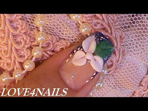 How To Make An Easy 3 D Flower On Your Nails Tutorial