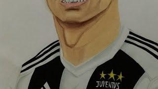 como dibujar a Cristiano Ronaldo Juventus /drawing cr7 juventus