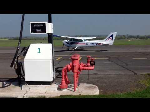 Cessna Skywalk | G-BNTP | Taxi & Takeoff | Nottingham Airport (EGBN) Tollerton | 08/04/2017