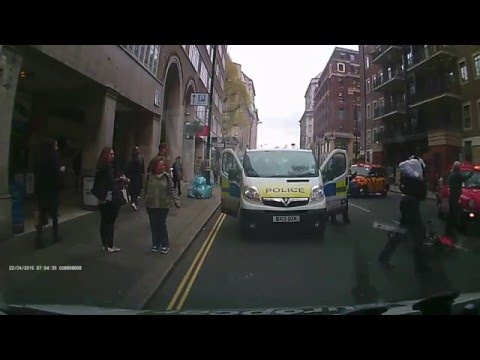 Black cab u-turn Cycle crash