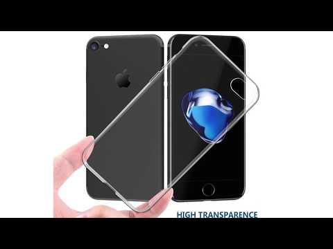 Clear Silicone Full Cover Soft Transparent TPU Case For iPhone