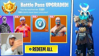 *NEW* SEASON 5 ALL BATTLE PASS SKIN UPGRADES + REWARDS SHOWCASE! (Fortnite Season 5 MAX TIER)