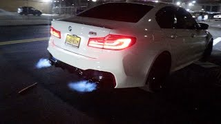 BMW M5 SHOOTS FLAMES | NYC CAR VLOG 1