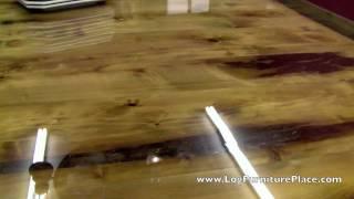 Cedar Lake Lodge Log Dining Table From Logfurnitureplace.com