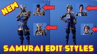 *NEW* HIME and MUSHA SAMURAI SKIN STYLES!!! (Fortnite Battle Royale)