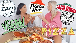 VEGAN PIZZA TASTE TEST!!! are they any good!?   Sophia and Cinzia