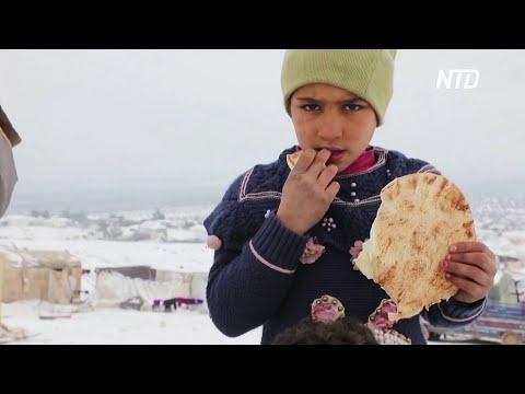 ООН: во временных лагерях в Сирии из-за холодов умирают дети