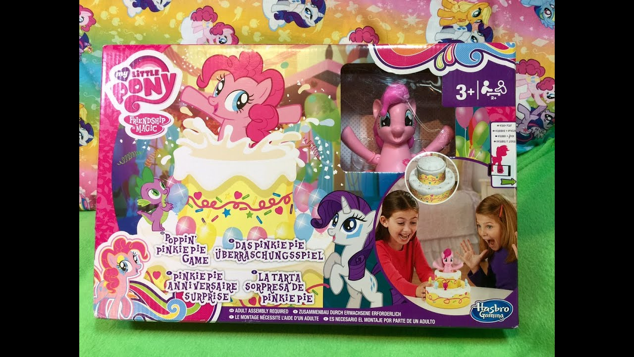 NEW My Little Pony Poppin Pinkie Pie Game with MLP Cutie Mark Magic