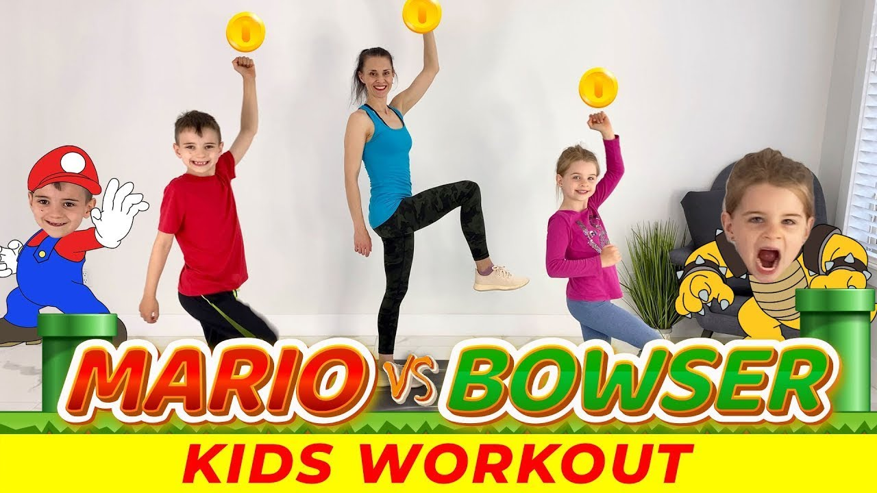 Kids Workout: Super Mario Vs Bowsers Fury |  Exercises For Kids At Home