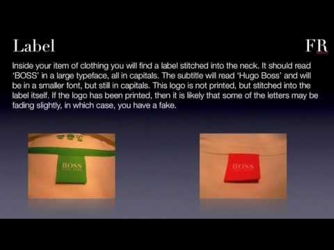 How to spot counterfeit Hugo Boss from FakesRevealed - YouTube 2407aa117ba