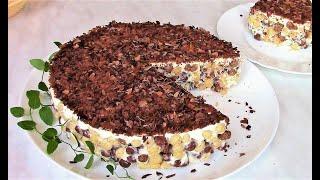 Торт из готового шоколадного завтрака . Торт без выпечки .
