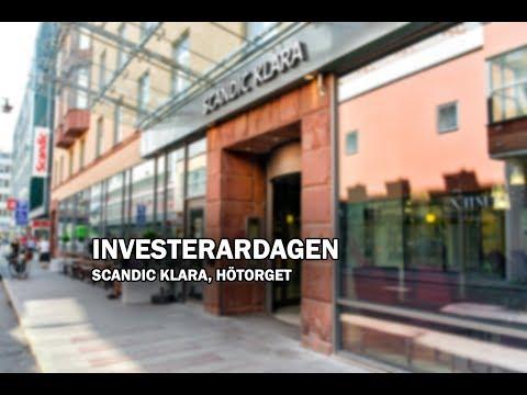 Investerardagen på Scandic Klara 19 Januari 2018 - Pass 1
