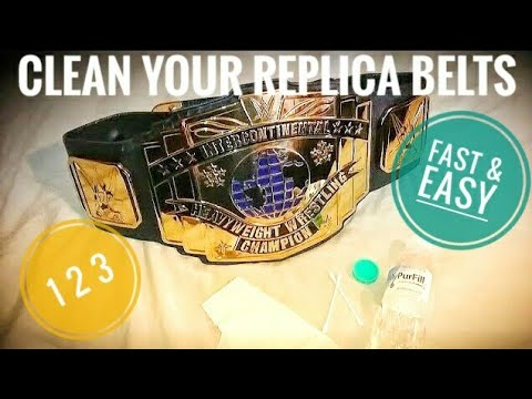 How To Clean WWE Replica Belt Plates
