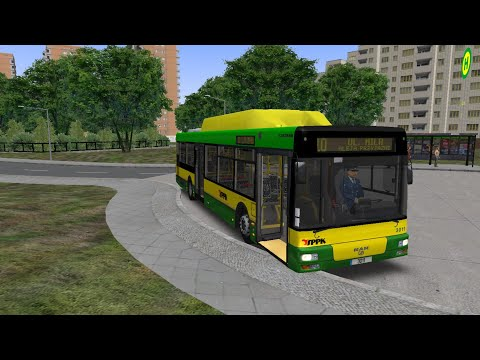 OMSI 2.Map Nysa — line 10 with MAN NL313 CNG.Pc Gameplay! |