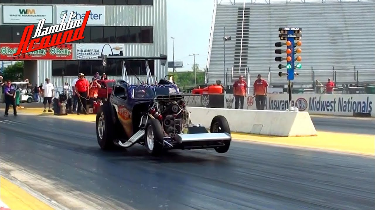 48 Fiat Topolino Altered Alcohol Supercharged Hemi Drag
